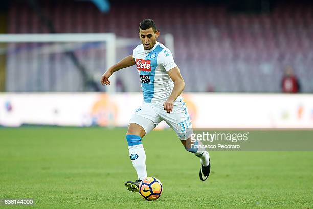 Faouzi Ghoulam of SSC Napoli in action during the Serie A match between SSC Napoli and FC Torino at Stadio San Paolo on December 18 2016 in Naples...