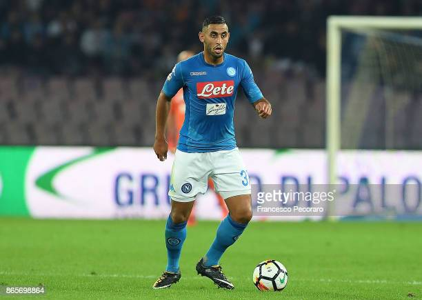 Faouzi Ghoulam of SSC Napoli in action during the Serie A match between SSC Napoli and FC Internazionale at Stadio San Paolo on October 21 2017 in...