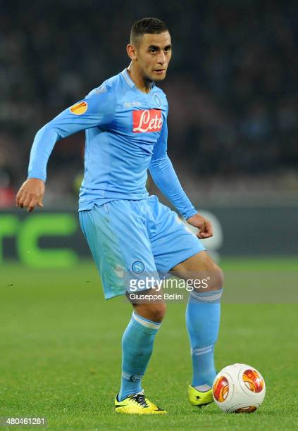 Faouzi Ghoulam of SSC Napoli in action during the UEFA Europa League Round of 16 match between SSC Napoli and FC Porto at Stadio San Paolo on March...
