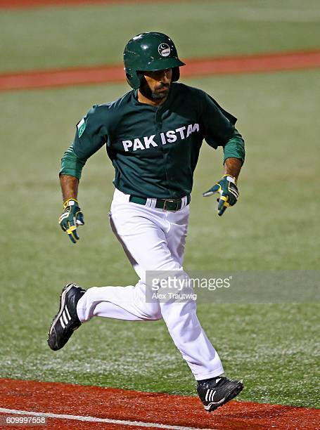 Faquir Hussain of Team Pakistan runs to first base during Game 4 of the 2016 World Baseball Classic Qualifier at MCU Park on Friday September 23 2016...