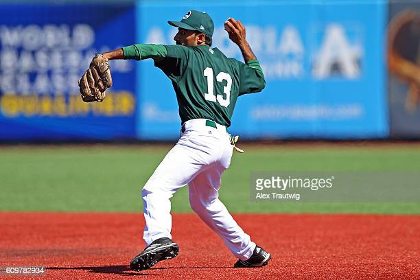 Faquir Hussain of Team Pakistan runs to second base during Game 1 of the 2016 World Baseball Classic Qualifier at MCU Park on Thursday September 22...