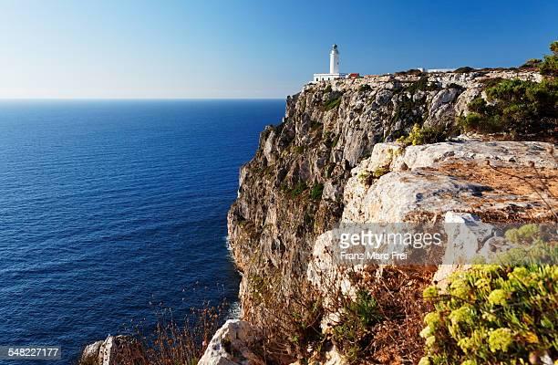 far de la mola lighthouse - islas baleares fotografías e imágenes de stock