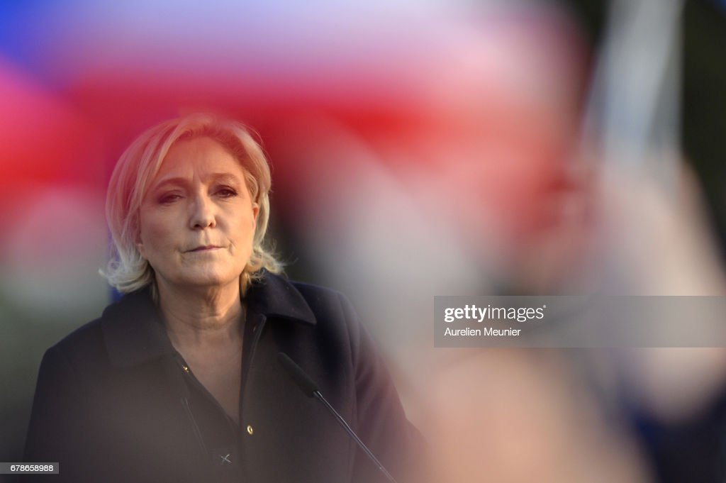 French Presidential Candidate Marine Le Pen Holds A Rally Meeting In Ennemain