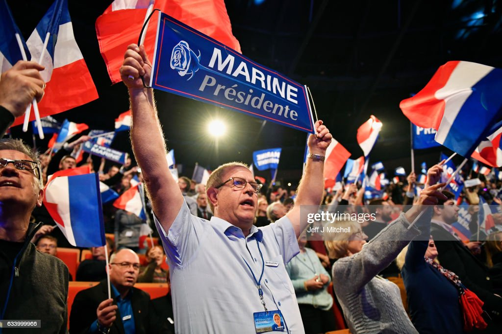 French Presidential Elections - The Launch Of The Marine Le Pen Campaign : News Photo
