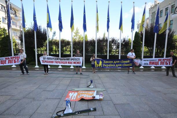 UKR: Far Rights Protest LGBT Pride In Kyiv