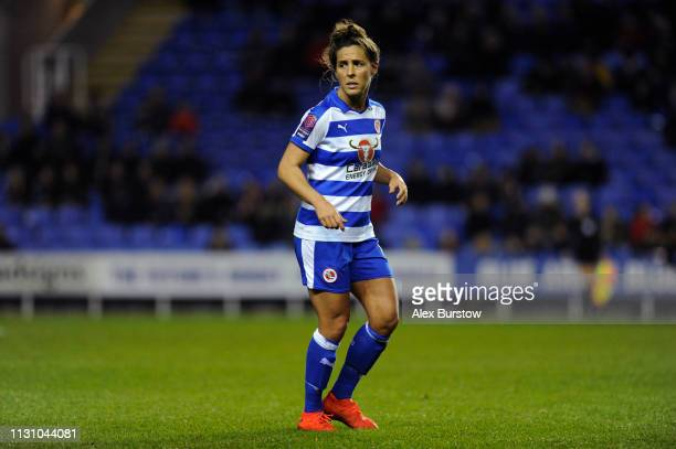 Fara Williams of Reading looks on during the FA Women's Super League match between Reading Women and West Ham United Women at Madejski Stadium on...