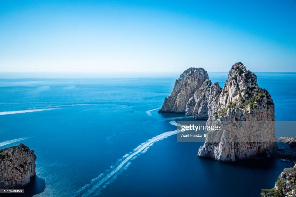Faraglioni of Capri, Capri, Campania, Italy : Stock Photo