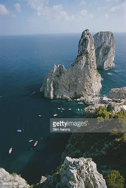 Faraglioni Rocks on the Italian island of Capri August 1974
