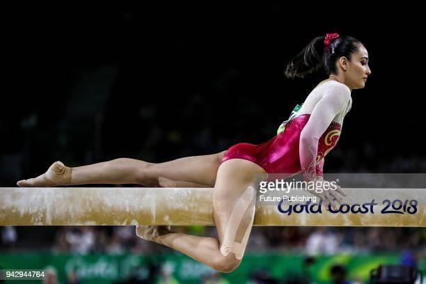 Farah Ann ABDUL HADI competes in the Women's Individual AllAround Final Artistic Gymnastics on April 7 2018 in Gold Coast Australia PHOTOGRAPH BY...