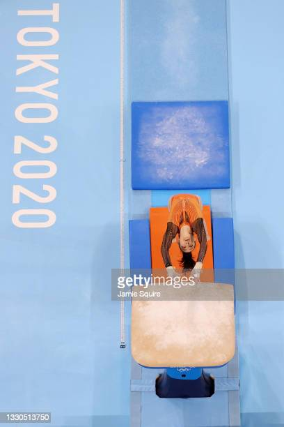 Farah Ann Abdul Hadi of Team Malaysia competes on vault during Women's Qualification on day two of the Tokyo 2020 Olympic Games at Ariake Gymnastics...