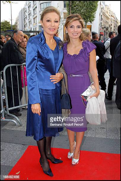 Farah Diba and her daughter Princess Yasmine Pahlavi at Premiere Of Film 'Faubourg 36' At Ugc Normandie In Benefit Of Claude Pompidou Foundation