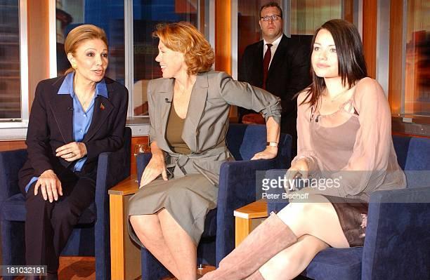 "Farah Diba Pahlavi , Gaby Dohm , Cosma Shiva Hagen , , ZDF-Show ""J o h a n n e s B . K e r n e r - S h o w"", , Moderator, Talk-Show, Gäste, Promis,..."