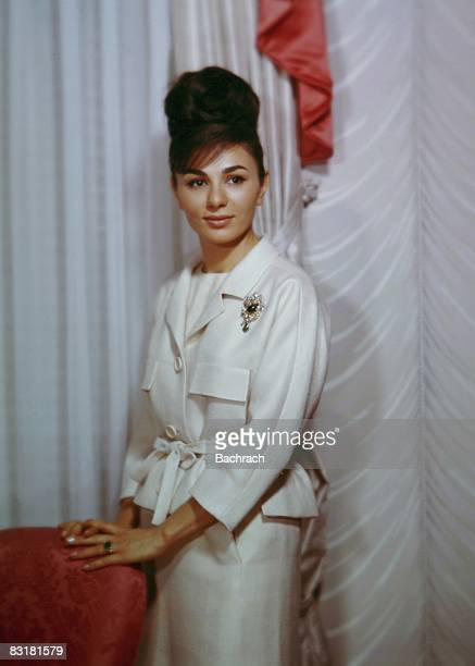 Farah Diba Pahlavi the third wife of Mohammed Reza Pahlavi the late Shah of Iran New York 1962