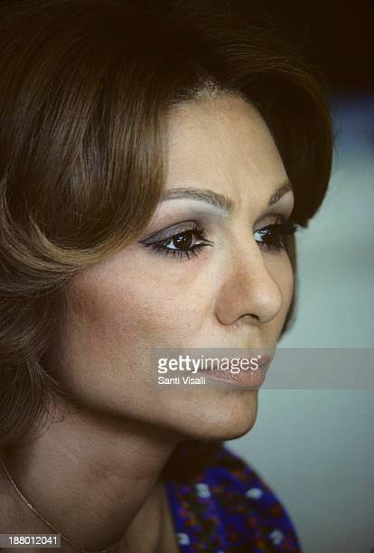 Farah Diba Posing for a portrait on June 10 1977 in Tehran Iran