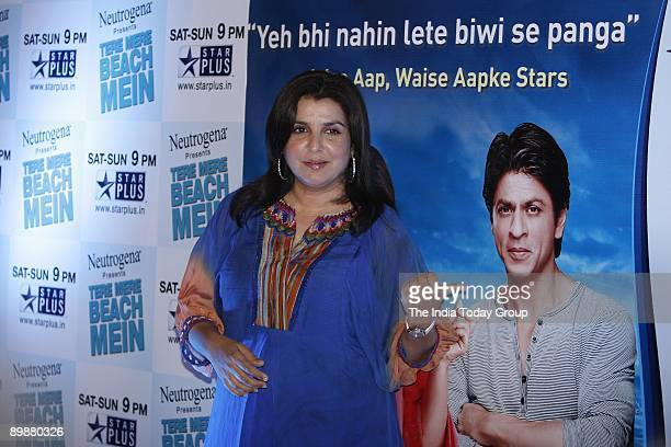 Farah Khan is bitten by the TV hosting bug The choreographerturneddirector is busy promoting her celebrity chat show Tere Mere Beech Main that will...