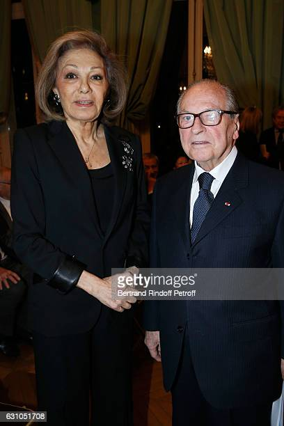 HIH Farah Pahlavi and Chancellor of 'Institut de France' Gabriel de Broglie attend Stephane Bern's Foundation for 'L'Histoire et le Patrimoine...