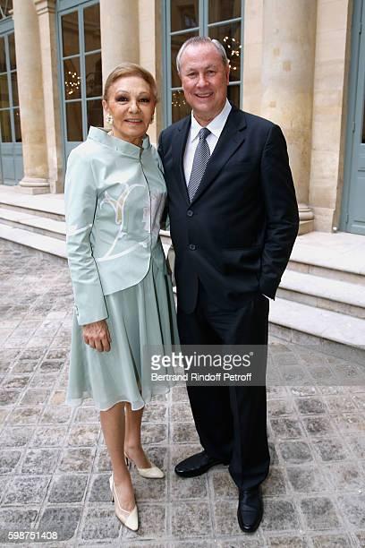 SAI Farah Pahlavi and Director Robert Wilson attend the Presentation of the new Van Cleef Arpels Collection 'L'Arche de Noe racontee par Van Cleef...