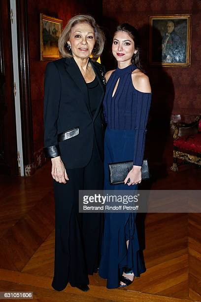 HIH Farah Pahlavi and her granddaughter Noor Pahlavi attend Stephane Bern's Foundation for L'Histoire et le Patrimoine Institut de France delivers...