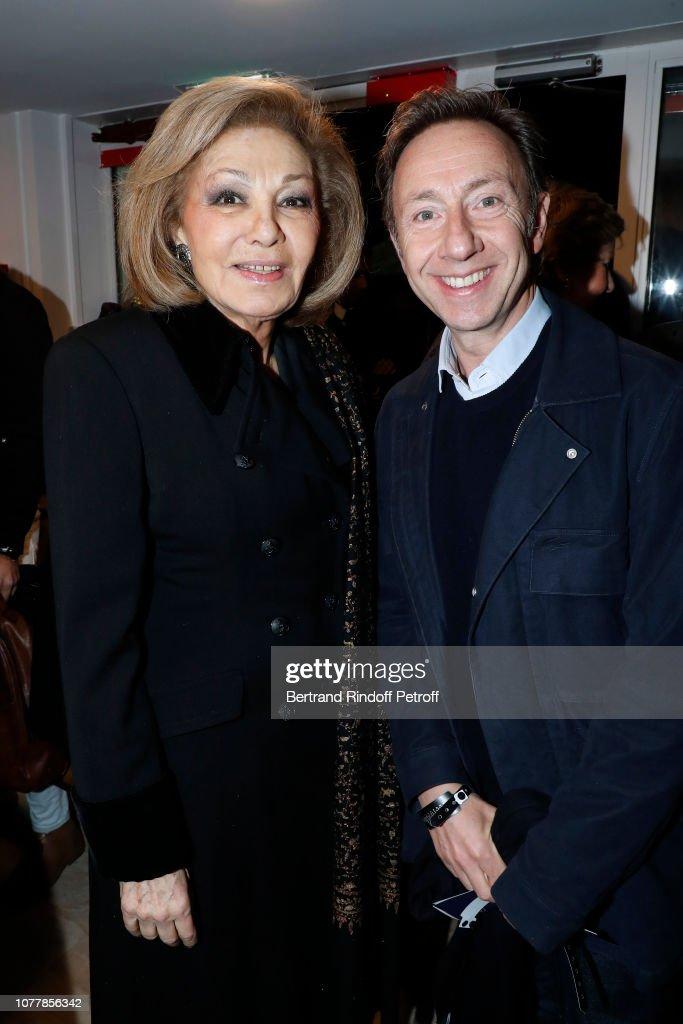 """Bonsoir"" Theater Play At Theatre Marigny Studio In Paris : News Photo"