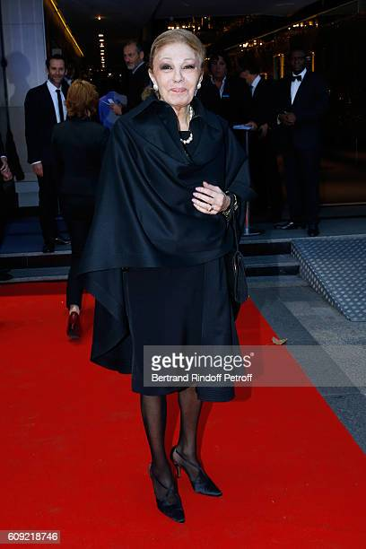 Farah Pahlavi attends the Cezanne et Moi movie Premiere to Benefit 'Claude Pompidou Foundation' Held at UGC Normandie in Paris on September 20 2016...