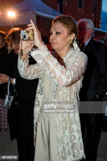 Farah Pahlavi attends the Cini party during the 57th International Art Biennale on May 10 2017 in Venice Italy