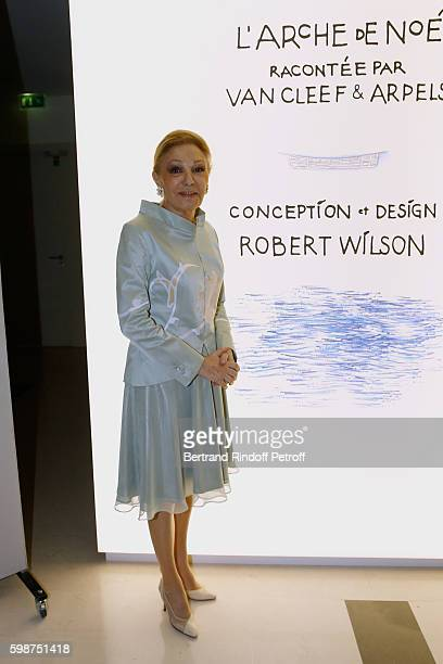 Farah Pahlavi attends the Presentation of the new Van Cleef Arpels Collection 'L'Arche de Noe racontee par Van Cleef Arpels Design by Robert wilson'...