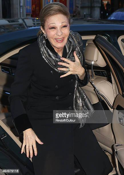 Farah Pahlavi attends the Talking to the TreesRetour a  la Vie Paris screening at Cinema l'Arlequin on March 2 2015 in Paris France