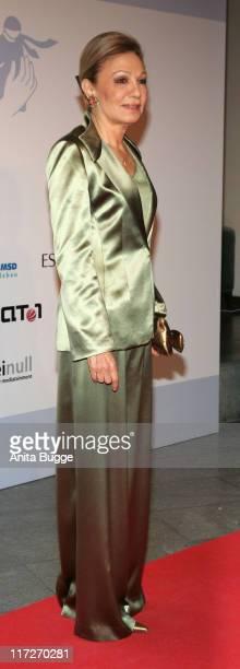 Farah Pahlavi former Empress of Iran attends at the Innocence In Danger Art for Children charity gala at the Hyatt Hotel on April 26 2008 in Berlin...