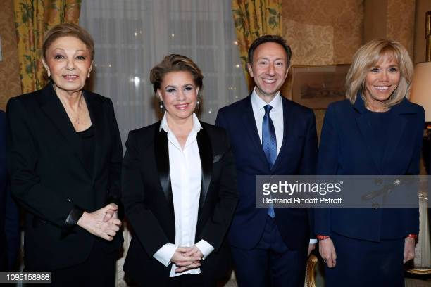 Farah Pahlavi Grand Duchess Maria Theresa of Luxembourg Founder Stephane Bern and Brigitte Macron attend the 2018 Prize of the Stephane Bern Institut...