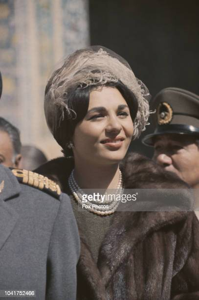 Farah Pahlavi née Diba the Empress consort of Shah Mohammad Reza Pahlavi of Iran during a State Visit to Iran by Queen Elizabeth II and Prince Philip...