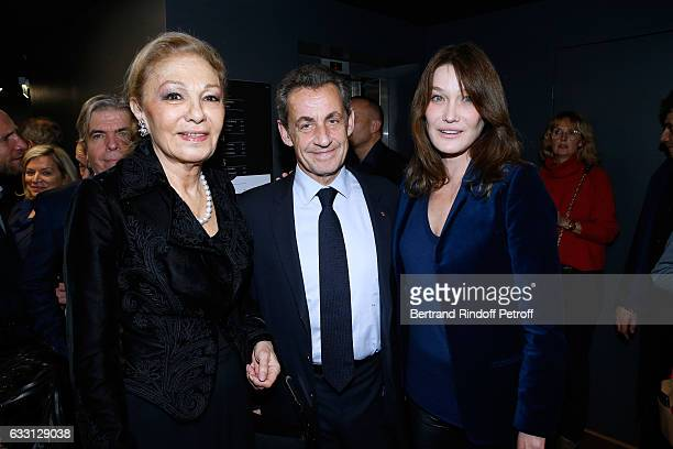 Farah Pahlavi Nicolas Sarkozy and his wife Carla Bruni Sakozy attend the Charity Gala against Alzheimer's disease at Salle Pleyel on January 30 2017...