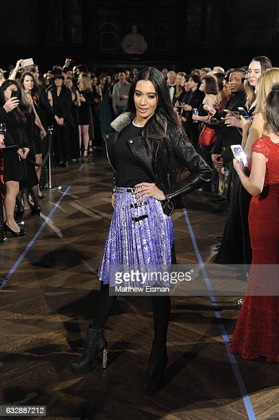 Farah Zulaikha walks the runway during Dressed To Kilt Ball Fashion Show presented by Usquaebach Scotch Whisky The High Line Hotel SugarBearHair at...