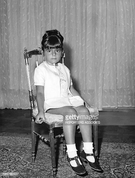 Farahnaz Pahlavi la fille ainée du Shah d'Iran et de la Shabanou Farah Diba circa 1967 en Iran