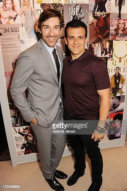 Faraone Mennella designers Roberto Faraone Mennella and Amedeo Scognamiglio attend the 12th birthday of New York jewellery house Faraone Mennella...