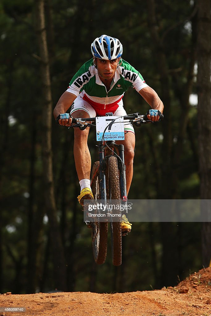 Faraz Shokro of Iran rides in the Men's Cross-country Final during day eleven of the 2014 Asian Games at Yeongjong Baegunsan MTB Course on September 30, 2014 in Incheon, South Korea.