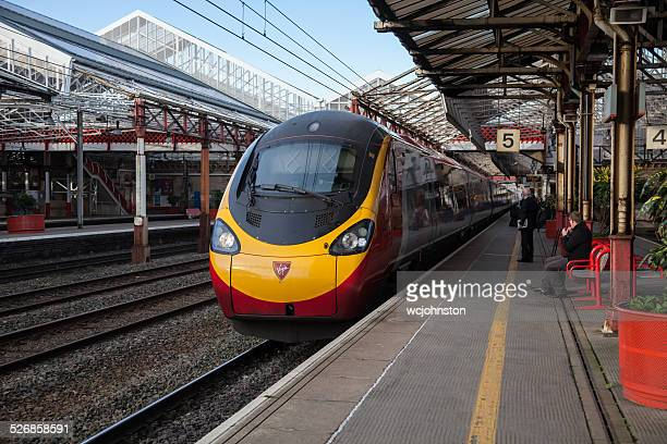 Fare Paying Passengers & a Virgin Trains Pendolino at Crewe
