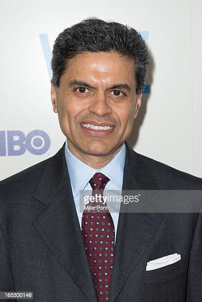 Fareed Zakaria attends the Vice premiere at Time Warner Center on April 2 2013 in New York City