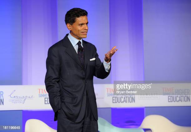 Fareed Zakaria speaks at the TIME Education Summit on Higher Education at Time Warner Center on September 19 2013 in New York City