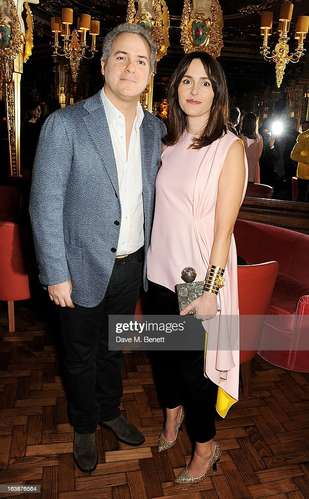 Fares Fares (L) and Tania Fares attend a drinks reception celebrating Patrick Cox's 50th Birthday party at Cafe Royal on March 15, 2013 in London, England.