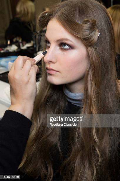Faretta is seen ahead of the Versace show during Milan Men's Fashion Week Fall/Winter 2018/19 on January 13 2018 in Milan Italy