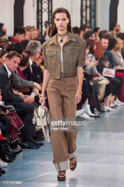 Faretta walks the runway during the Chloe Womenswear Spring/Summer 2020 show as part of Paris Fashion Week on September 26, 2019 in Paris, France.