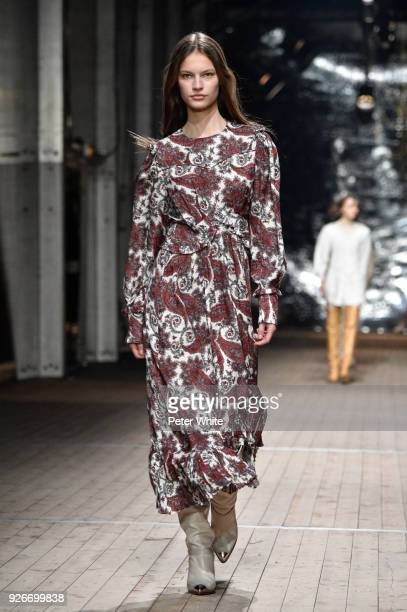 Faretta walks the runway during the Isabel Marant show as part of the Paris Fashion Week Womenswear Fall/Winter 2018/2019 on March 1 2018 in Paris...