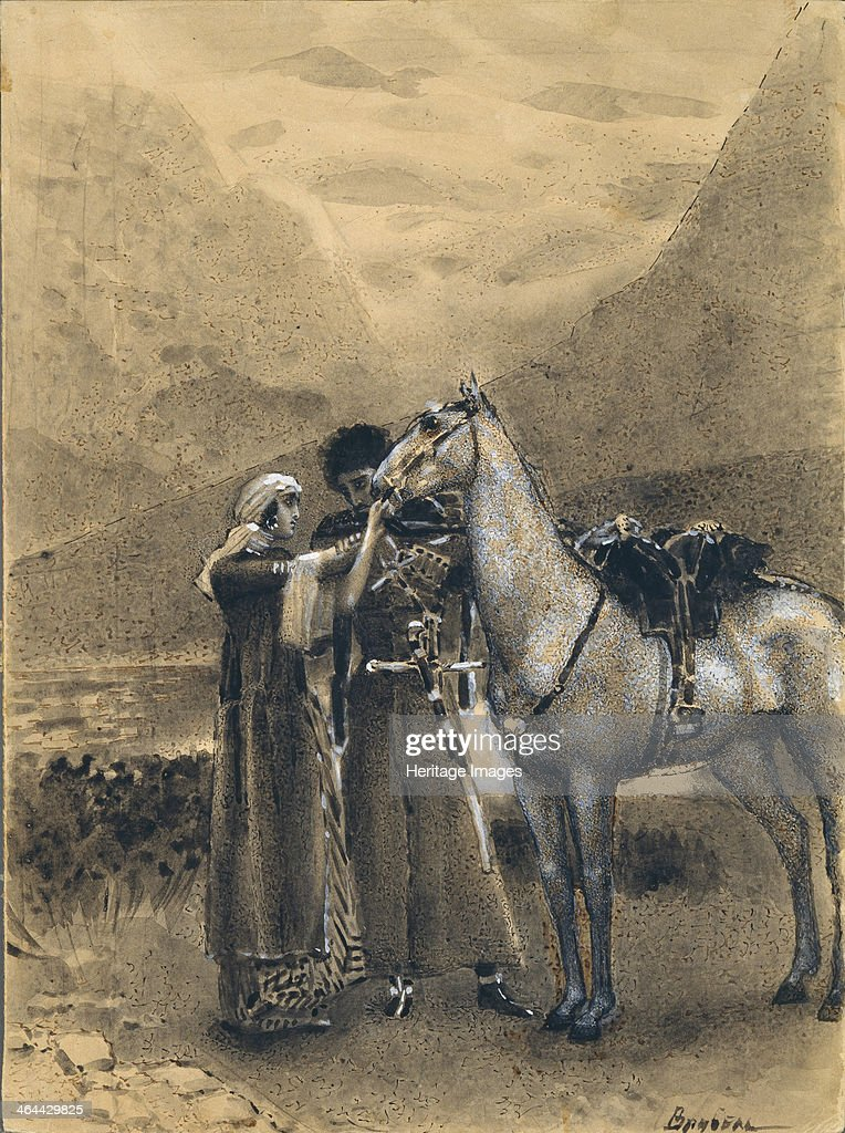 Farewell of Zara with Ismail  Illustration to the poem