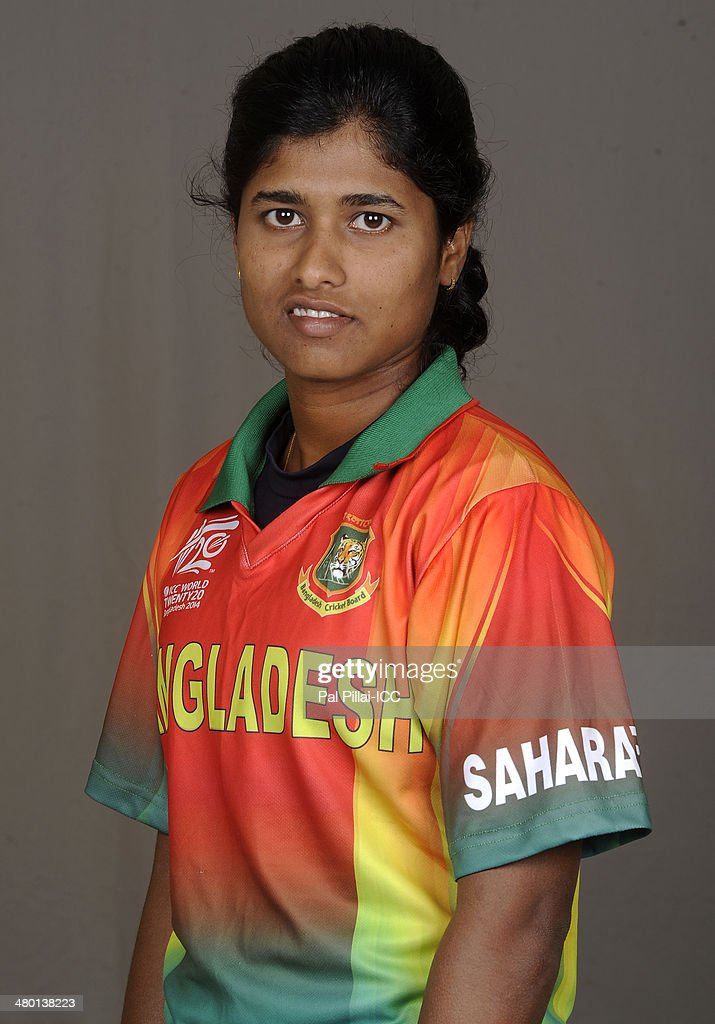 Fargana Hoque of Bangladesh poses for a portrait during the women's headshot session before the start of the ICC Women's World T20 at the Sylhet...
