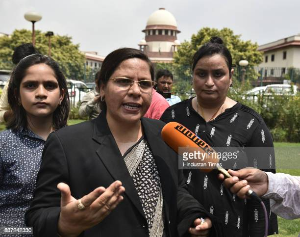 Farha Faiz an advocate talking to media about proceedings in the court on Triple Talaq as the Supreme Court of India has banned the triple talaq for...