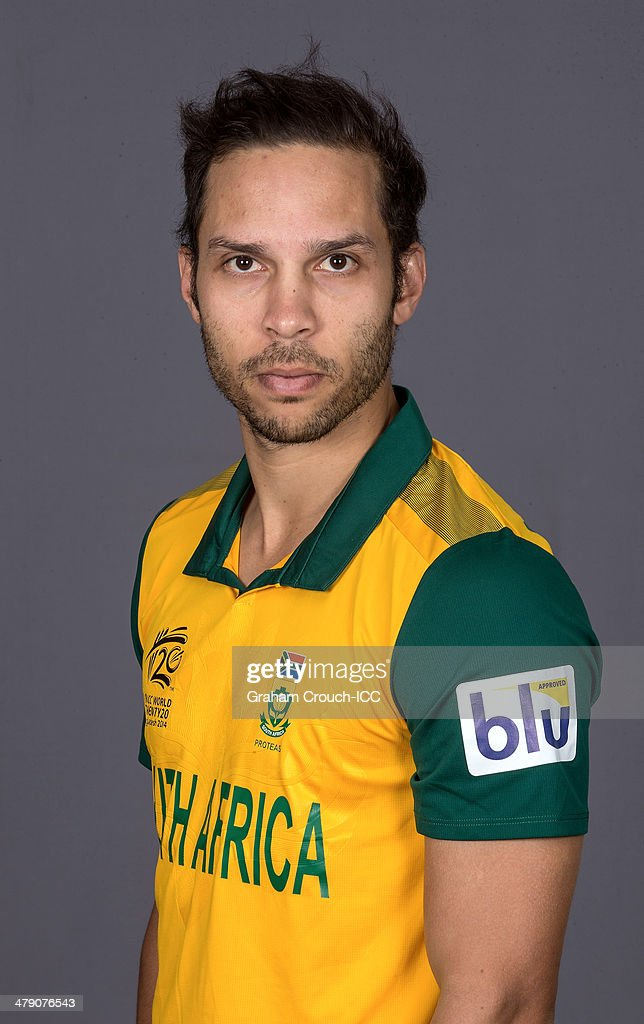 Farhaan Behardien of South Africa at the headshot session at the Pan Pacific Hotel, Dhaka in the lead up to the ICC World Twenty20 Bangladesh 2014 on March 16, 2014 in Dhaka, Bangladesh.