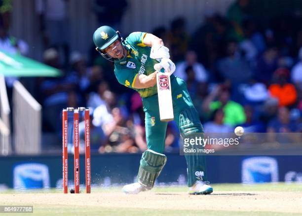 Farhaan Behardien of South Africa during the 3rd Momentum ODI match between South Africa and Bangladesh at Buffalo Park on October 22 2017 in East...