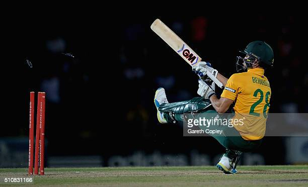 South africa invitation xi stock photos and pictures getty images farhaan behardien of south africa invitation xi is bowled by david willey of england during the stopboris Choice Image