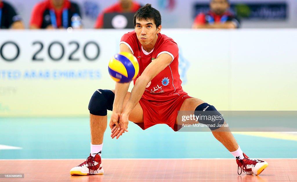 Farhad Ghaemim of Iran during 17th Asian Men's Volleyball Championship between Iran And Lebanon on October 4, 2013 in Dubai, United Arab Emirates.