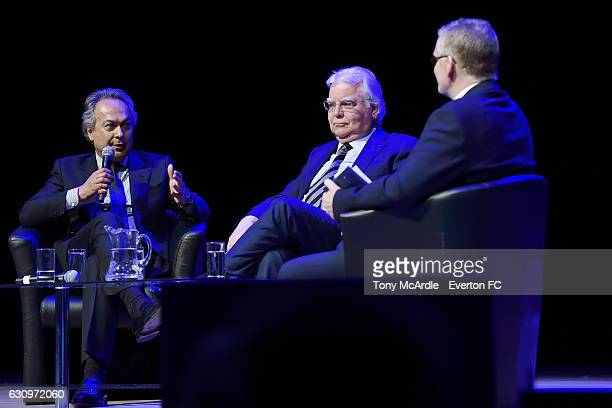 Farhad Moshiri and Bill Kenwright in conversation during the Everton Annual General Meeting on January 4 2017 in Liverpool England